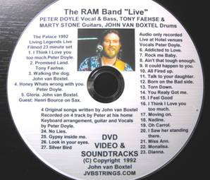 The Ram Band DVD