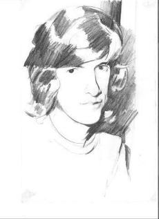 A teenager's sketch of Peter